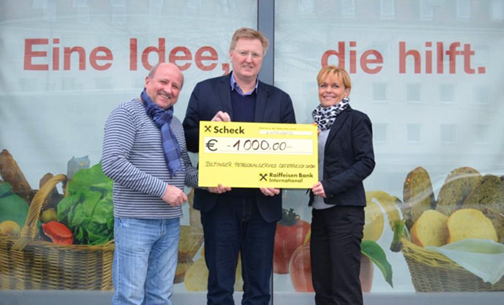 Spendenübergabe für Sozialmarkt Linz und Wels