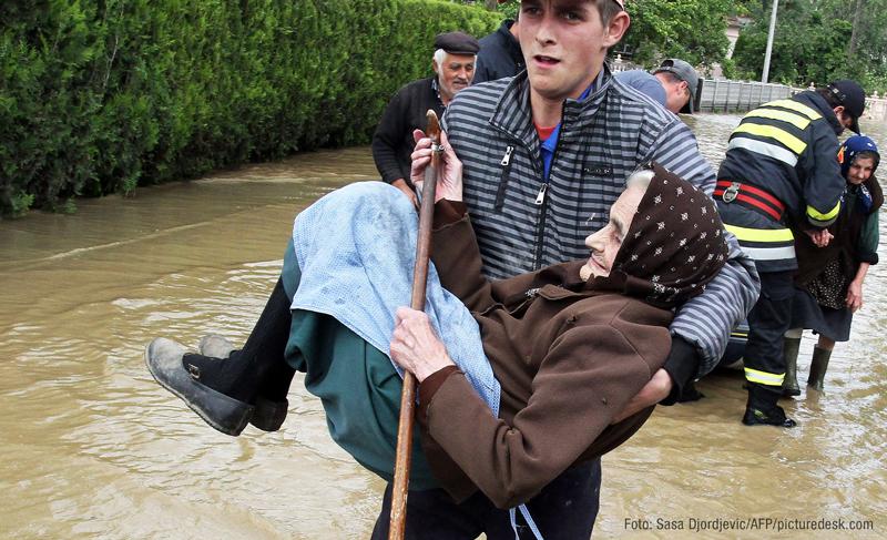 Jahrhundert-Hochwasser Balkan
