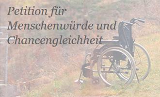 Petition für Menschenwürde und Chancengleichheit