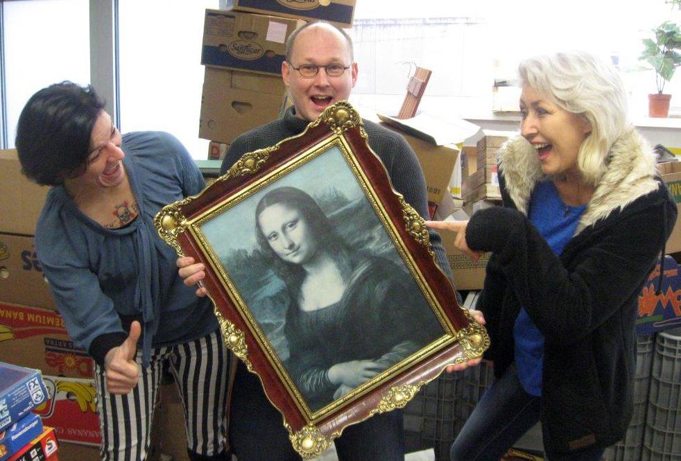Mona Lisa im Volkshilfe Shop