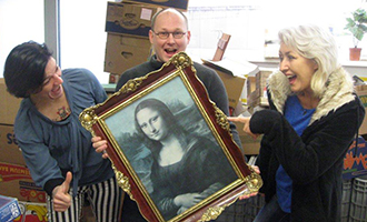 Mona Lisa im Volkshilfe-Shop