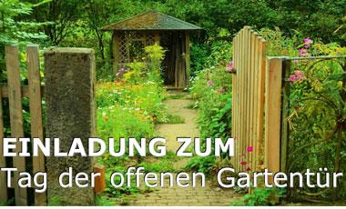 6. Oktober: Tag der offenen Gartentür