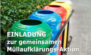 10. Oktober: Müllaufklärungsaktion Wels