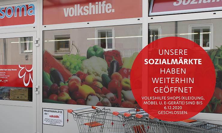 Unsere Sozialmärkte sind geöffnet!