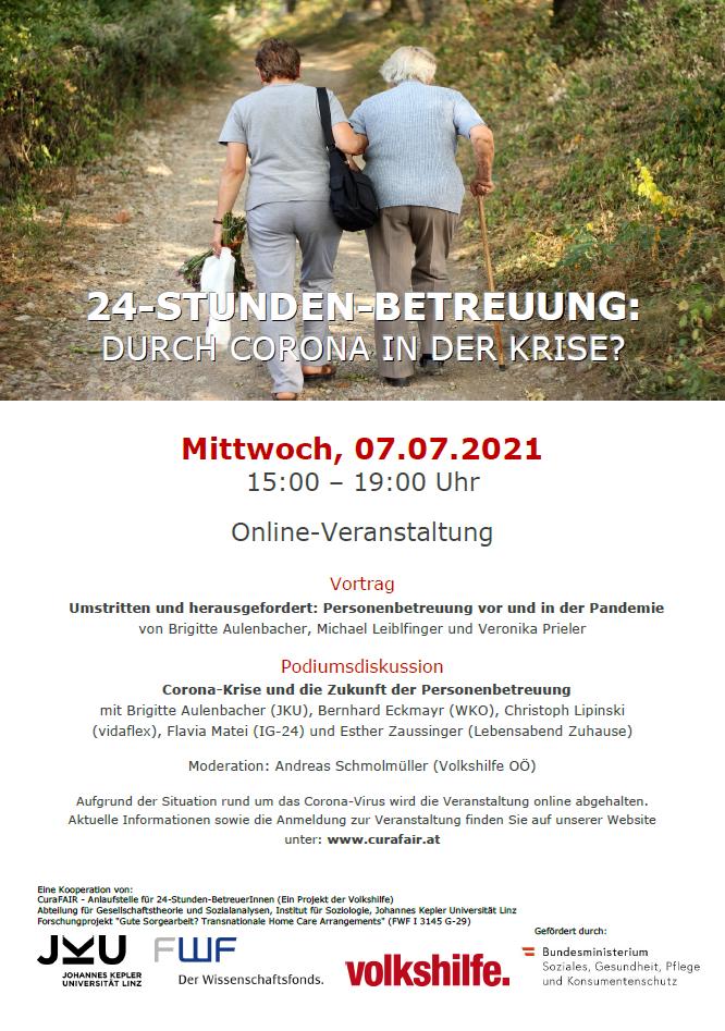 24 Stunden Betreuung Veranstaltung Flyer